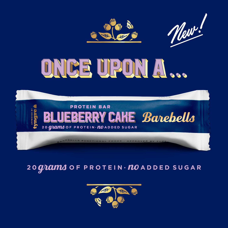 Barebells ny proteinbar Blueberry Cake